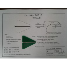 Log Periodic PCB Antenna - 2 to 11GHz